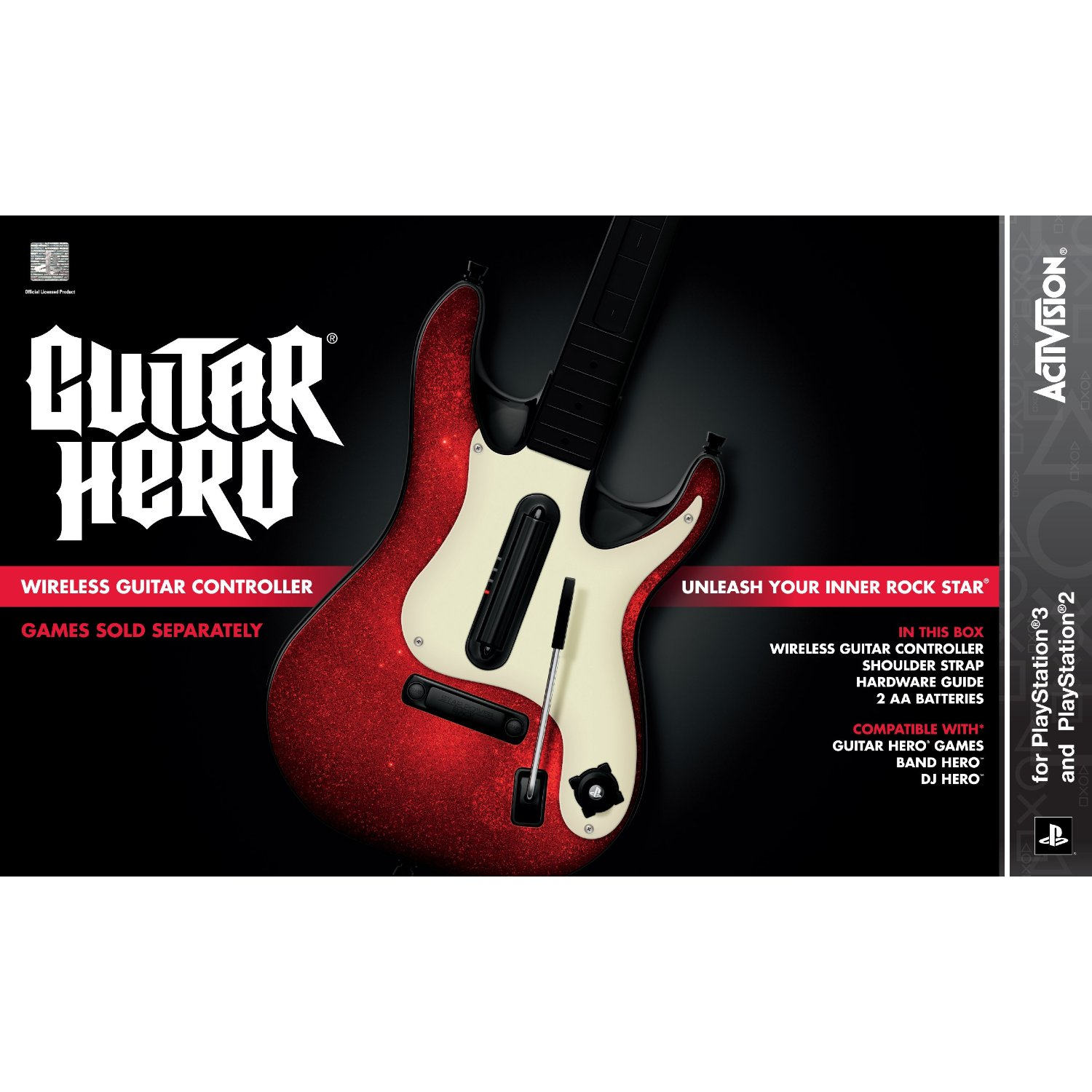 the gamebazar ps3 guitar hero 5 stand alone guitar. Black Bedroom Furniture Sets. Home Design Ideas