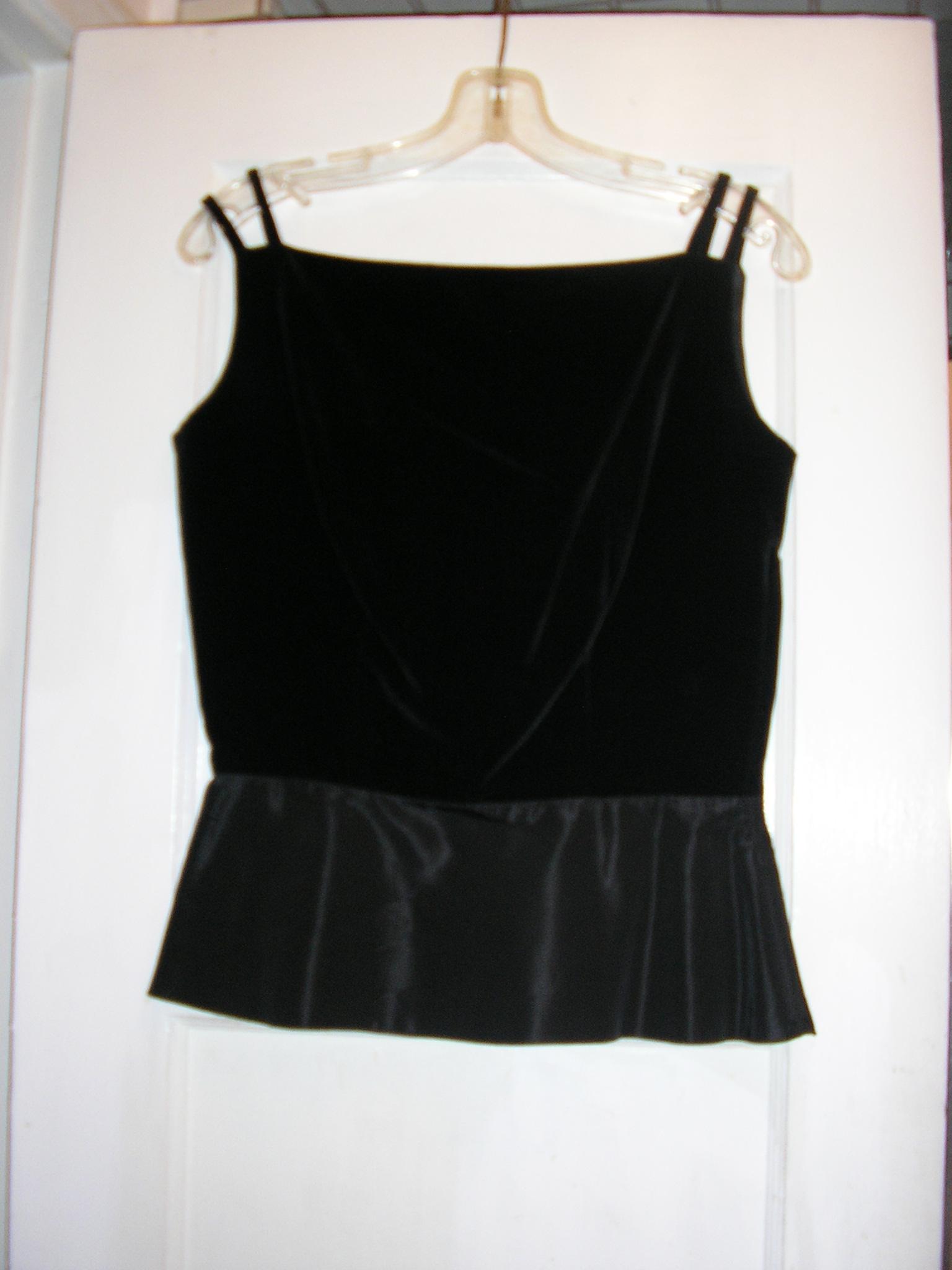 1950s black velvet peplum wiggle suit size small x