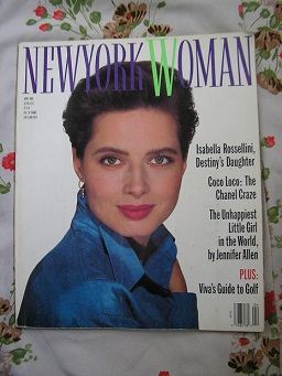 1989 new york woman magazine isabella rossellini c