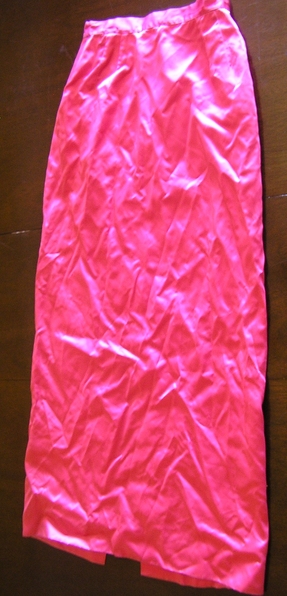1950s pink satin formal prom skirt sz small xs xxs