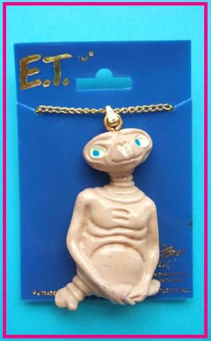 1980s gold & plastic E.T. movie necklace