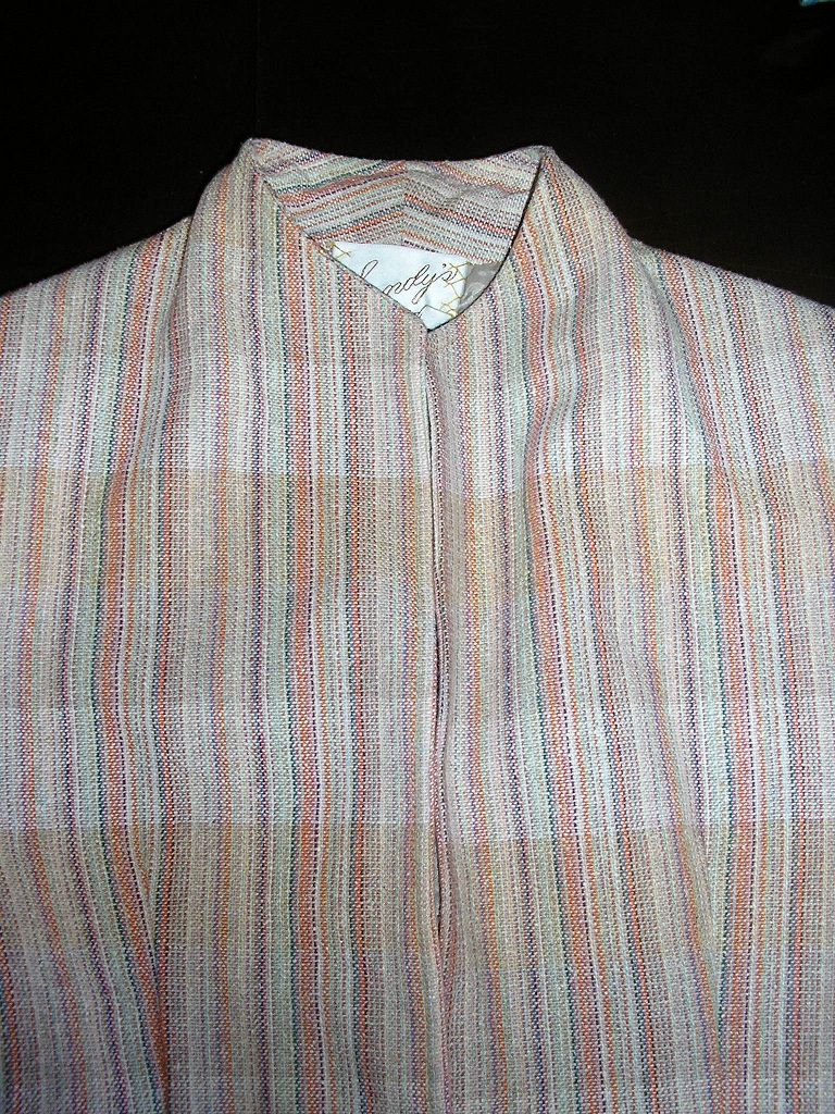 1970s givenchy beige rainbow suit sz xs small
