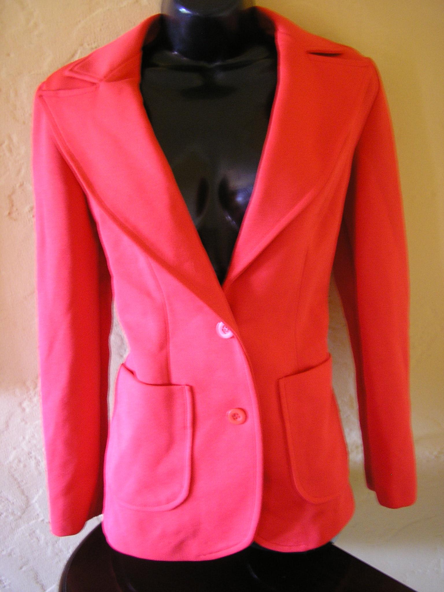 1970s orange polyester pam grier pants suit sz sma