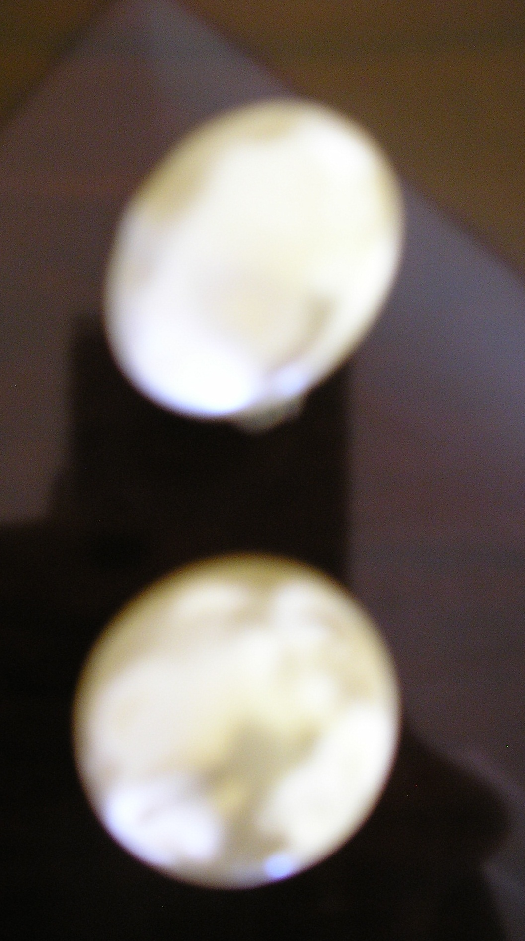 1950s large pearl button clip on earrings