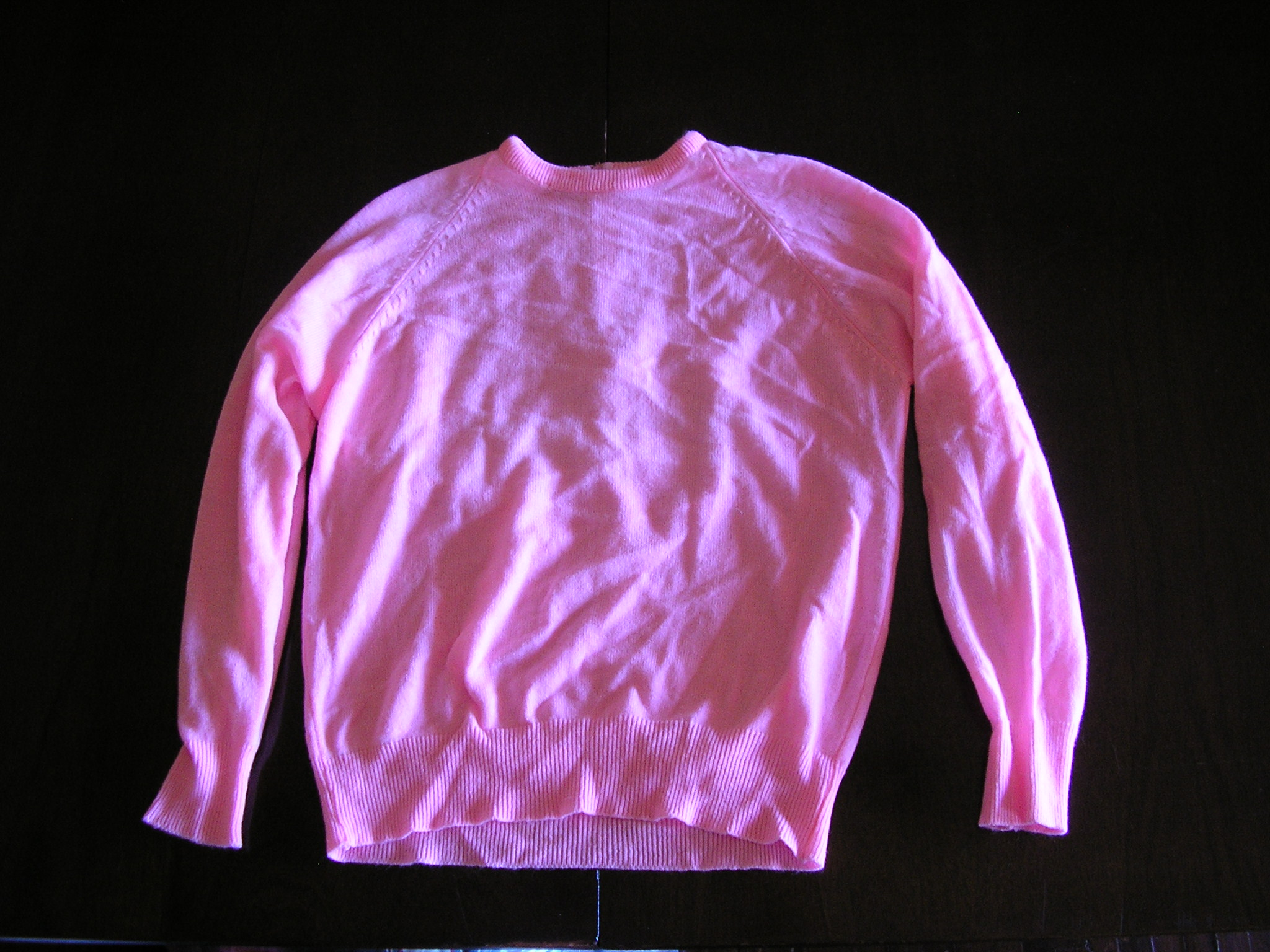 1960s neon pink sweater sz medium large