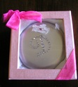 silver personalized D mirror compact rhinestones g