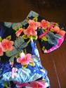 1960s blue Hawaiian senorita mermaid hot pink wigg