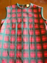 1960s italian xmas plaid red green shift jacket sz