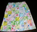1970s cartoon patchwork midi skirt sz large xl xxl
