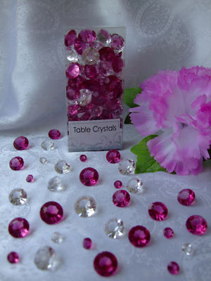 lady0510 Wedding CRYSTALS Burgundy Clear Mix Table Decorations