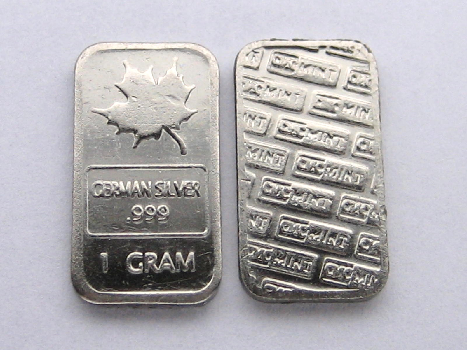 Rising Star Mint 1 Gram German Silver Maple Leaf Bullion