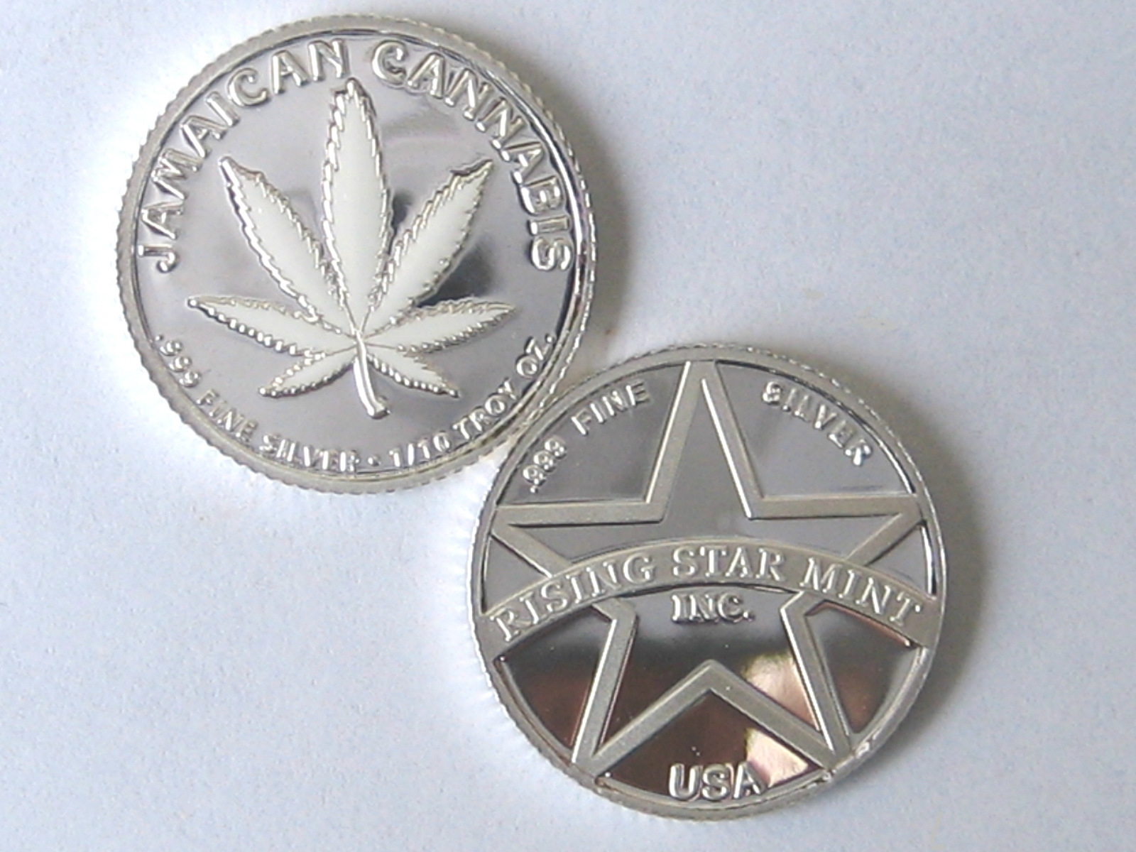 Rising Star Mint 1 10th Troy Ounce Pure Solid 999