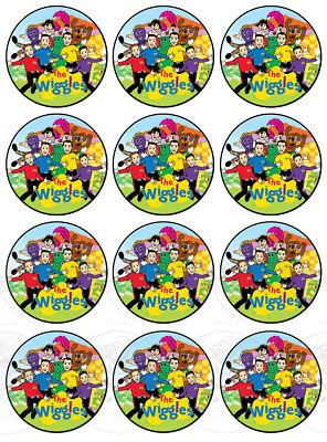 Customedibles : 12 WIGGLES CUPCAKE EDIBLE IMAGE TOPPER ...