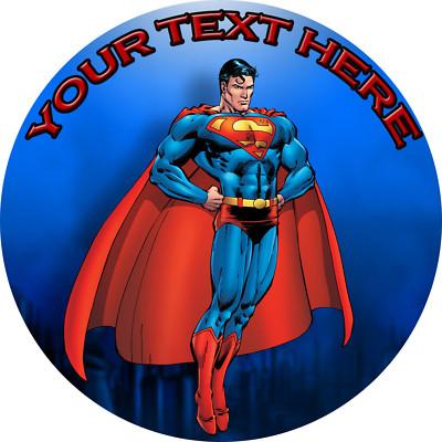 Customedibles Superman Hero Edible Image Cake Topper