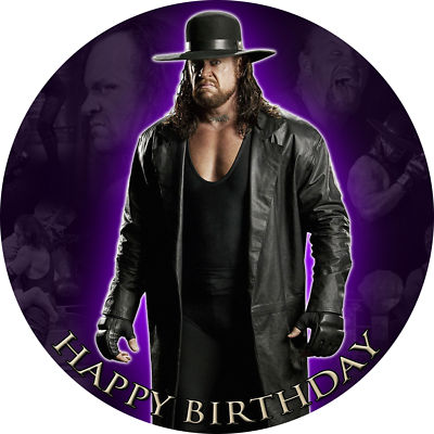Customedibles UNDERTAKER WWE EDIBLE IMAGE CAKE TOPPER DECORATION