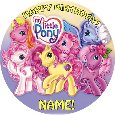 Customedibles My Little Pony Edible Image Cake Topper