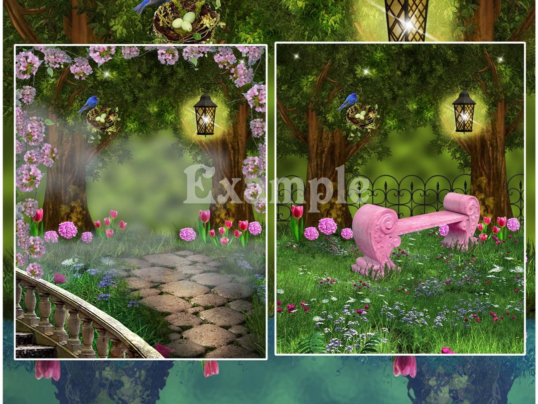 Free Digital Backdrops for Kids