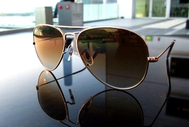 Ray Ban Aviator Sunglasses Gold Brown Smokey « Heritage Malta 6c8439a216c