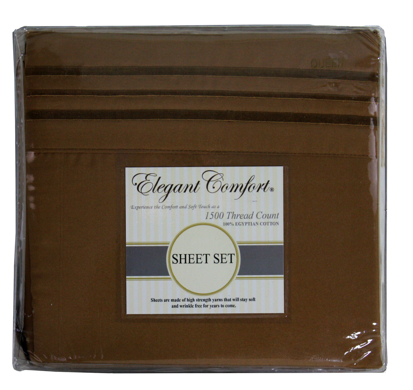 JS Sanders 1500 Series Sheet Set, King Size, Mocha