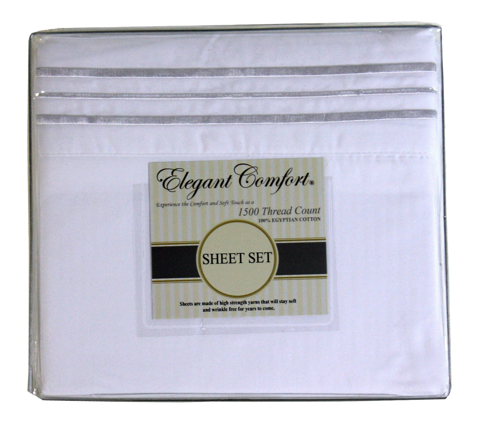 JS Sanders 1500 Series Sheet Set, Full Size, White
