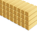 Photo of CP108 64 Unit Pillars Standard Unit Wooden Blocks in Hard Rock Maple