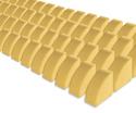 Photo of CP116 64 Quarter Circles Standard Unit Wooden Blocks in Hard Rock Maple
