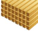 Photo of CP109 32 Double Pillars Standard Unit Wooden Blocks in Hard Rock Maple