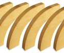 Photo of CP117 6 Elliptical Curves Standard Unit Wooden Blocks in Hard Rock Maple