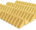 Photo of CP107 128 Small Triangle Standard Unit Wooden Blocks in Hard Rock Maple