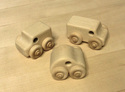Image of CP326 Van, Mini Van & Car Set of 3 Unit Block Vehicles in Hard Rock Maple