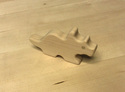 Image of CP372 Triceratops Hard Maple Unit Block Dinosaur in Hard Rock Maple