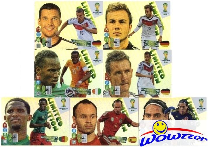 10 Limited Edition 10 Blister Panini Adrenalyn WM 2014 Brasilien