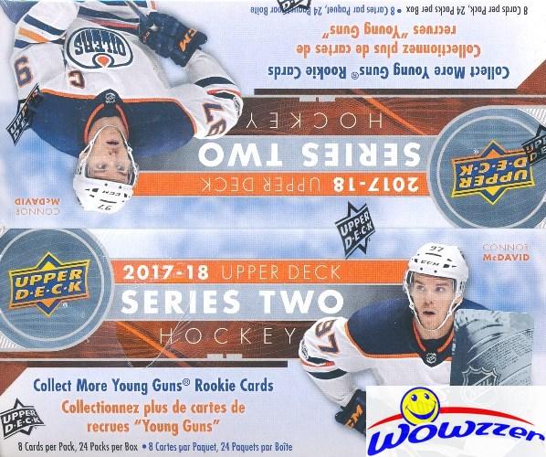 Clayton Keller? 24 Packs 8 cards per pack 2017-18 UPPER DECK SERIES 2 Hockey Hobby Box Sealed
