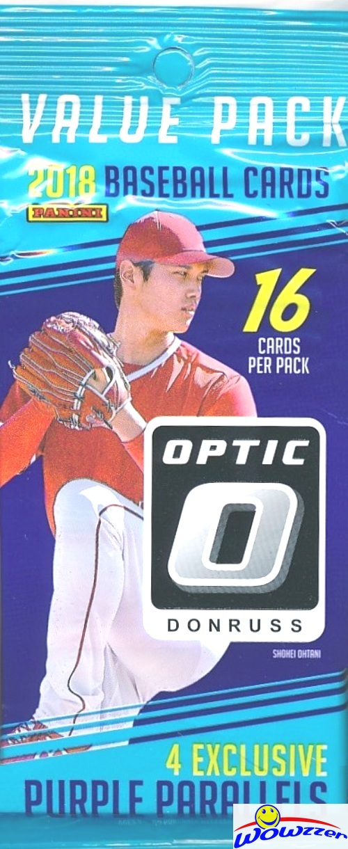 Details About 2018 Donruss Optic Baseball Factory Sealed Fat Pack Box 192 Cards Purple Prizm