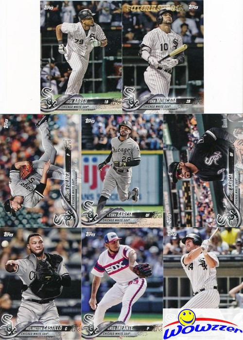 Chicago White Sox 2018 Topps Factory Sealed Special Edition 17 Card Team Set with Jose Abreu and Yoan Moncada Plus