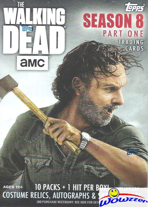 2018 Topps The Walking Dead Season 8 Factory Sealed HOBBY Box-2 HITS-AUTOGRAPH