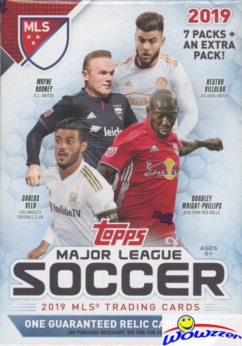 d74bd58c965 2019 Topps MLS Major League Soccer EXCLUSIVE Factory Sealed Blaster  Box-RELIC