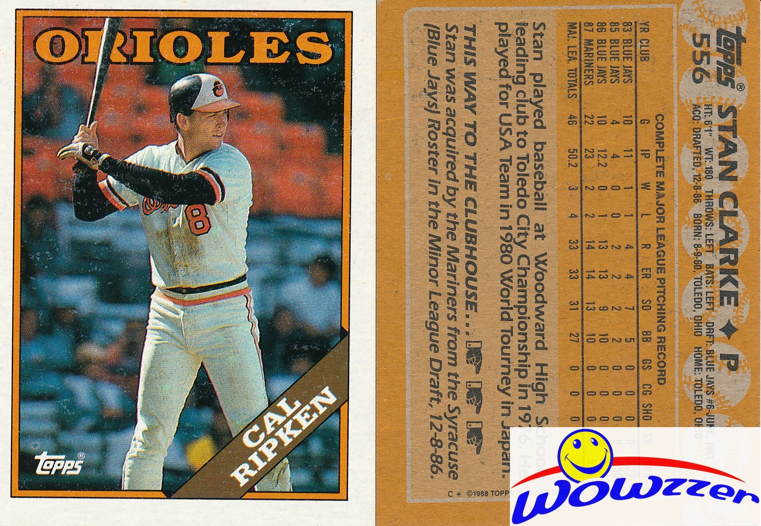 Details About 1988 Topps Cal Ripken Wrong Back Error Card Vintage Over 20 Years Old