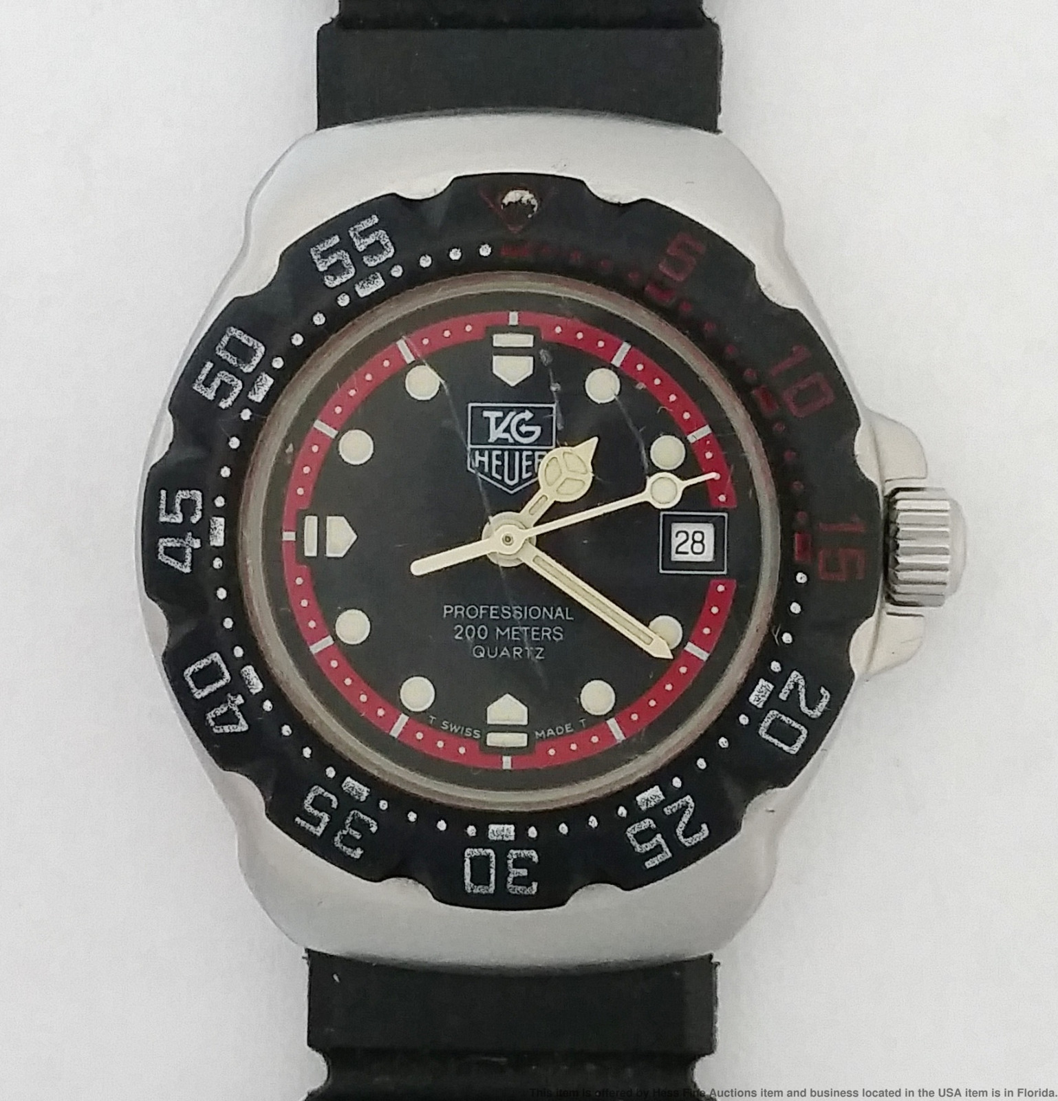 6621f7262d6 Detalhes sobre Vintage Tag Heuer WA1414 200m Sport Diver Senhoras Relógio  De Pulso Funcionando- mostrar título no original