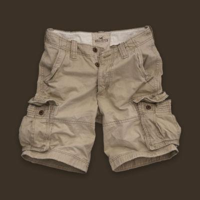 Usaveiwin Hollister Mens Ormond Beach Cargo Shorts Light