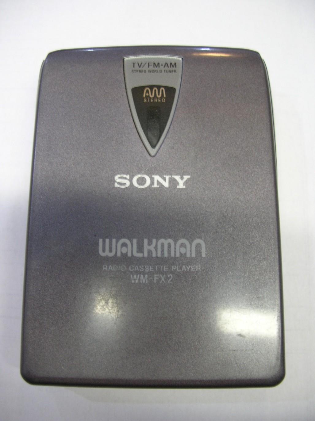 Sony WM FX2 Walkman TV/AM/FM Made in Japan Radio Cassette Player Gray