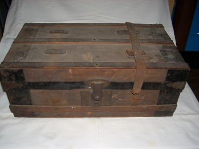 Allianceinvestments Antique Wooden Document Box W
