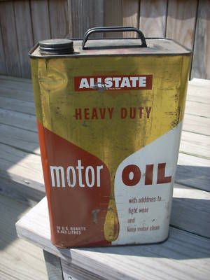 Allianceinvestments motor oil tin can allstate 10 qt for How is motor oil made