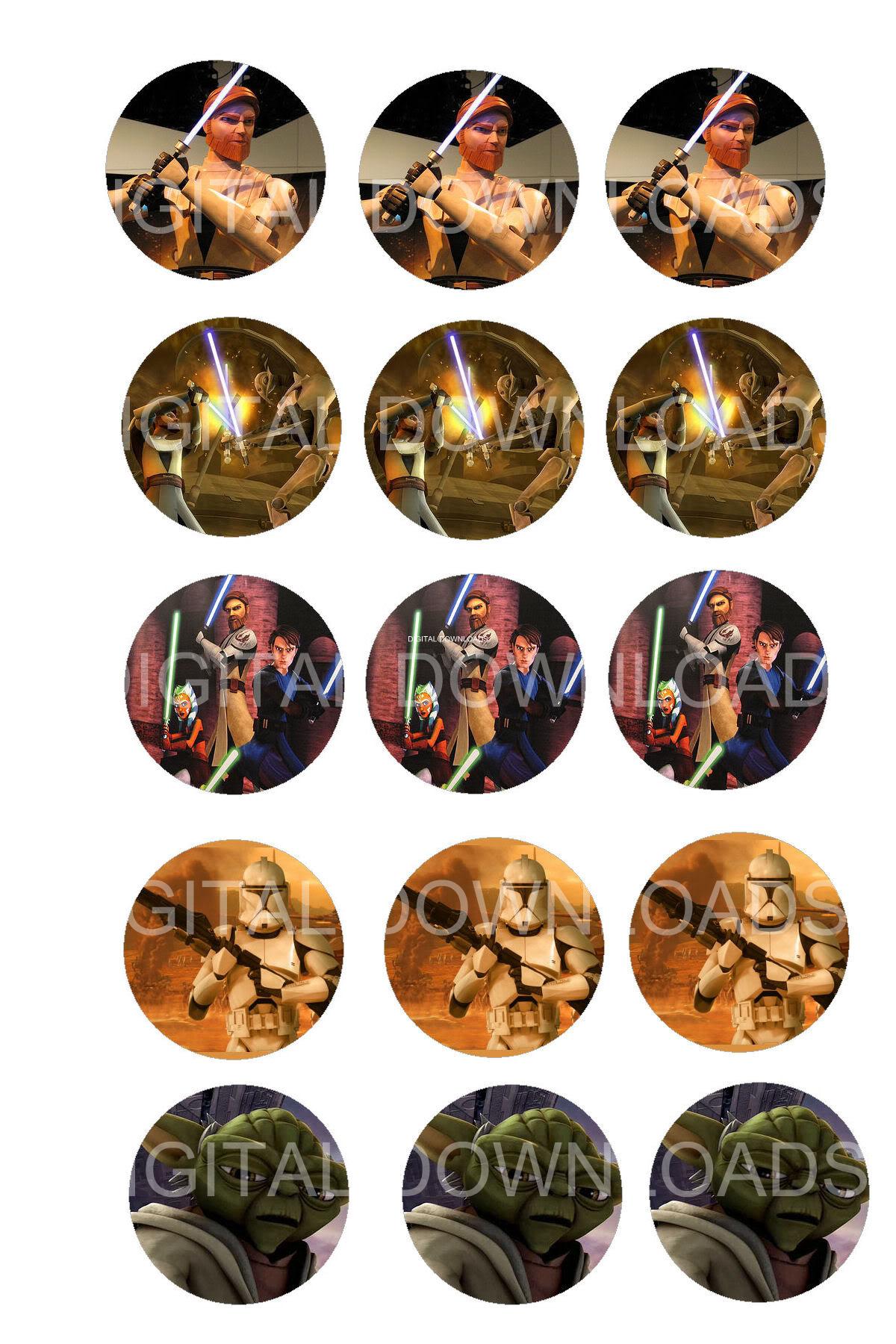 Star wars bottle cap 1 circle digital download mama for Bottle cap designs