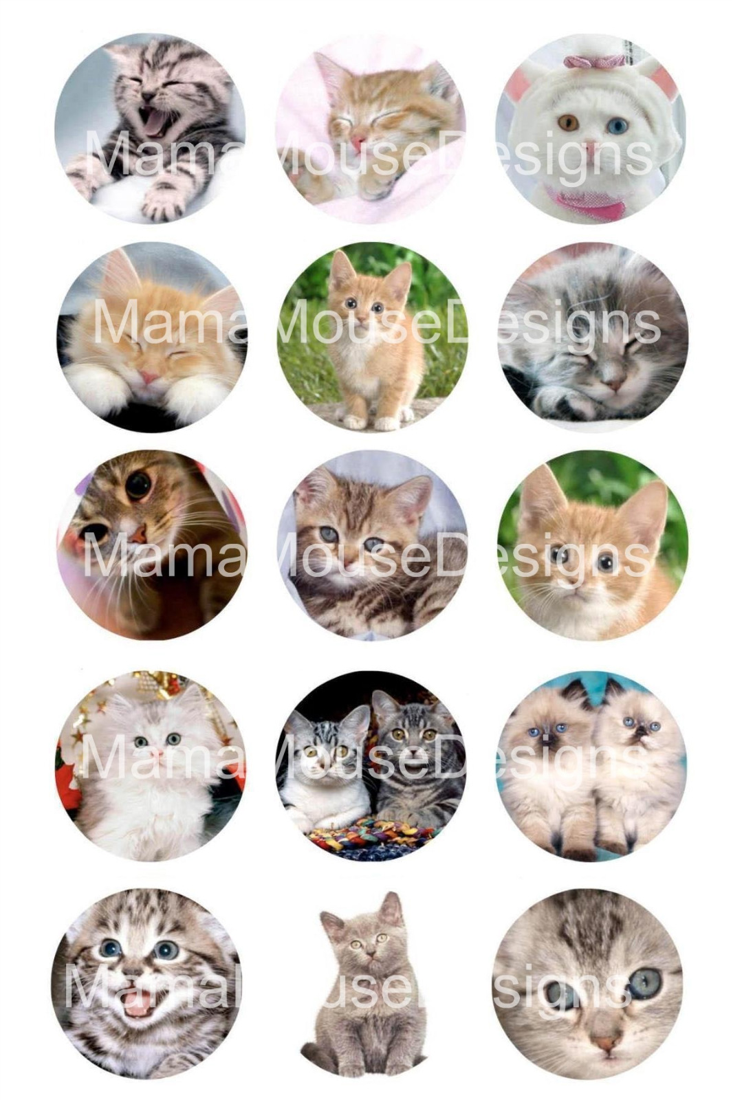 Cats bottle cap 1 circle digital image sheet mama mouse for Bottle cap designs