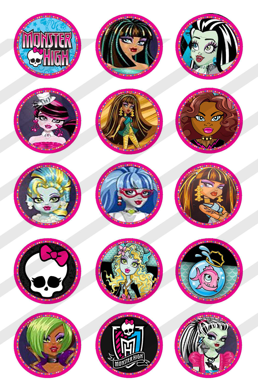 Monster high bottle cap image sheet 10 mama mouse designs for Bottle cap designs
