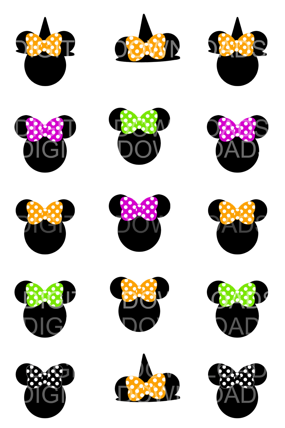 Disney Mickey Minnie Mouse Halloween Witch Costume