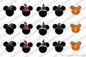 "Disney Mickey Minnie Mouse Halloween Bottle Cap 1"""