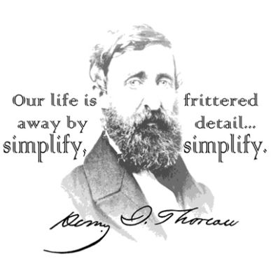 simplicity thoreau essay Essays, poems, letters) by henry david thoreau available to read online  as  to live according to its dictates, a life of simplicity, independence, magnanimity,.