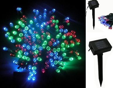 solar powered 100 led outdoor xmas tree party patio string light mix. Black Bedroom Furniture Sets. Home Design Ideas